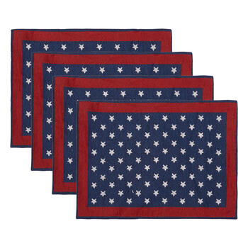 Red/White/Blue Stars Beaded Placemats, Set of 4 view 1
