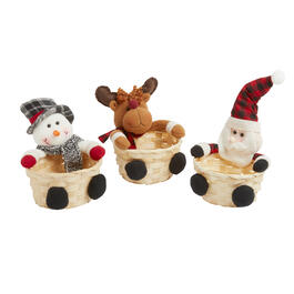 Holiday Friends Woven Candy Baskets, Set of 3 view 1