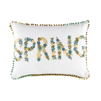 """Spring"" Oblong Throw Pillow view 1"