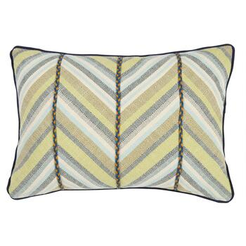 Patterned Chevron Oblong Throw Pillow with Trim