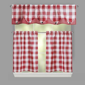 Country Plaid Window Tier & Valance Set
