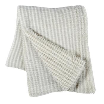 Gray Marled Brush Throw Blanket