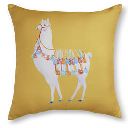 "Yellow Llama 20"" x 20"" Throw Pillow view 1"