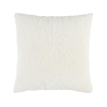 Warm Solid Sherpa Square Throw Pillow view 2