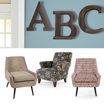 Accent Chairs & Wall Decor
