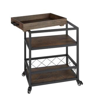 The Grainhouse™ Industrial Bar Cart view 2