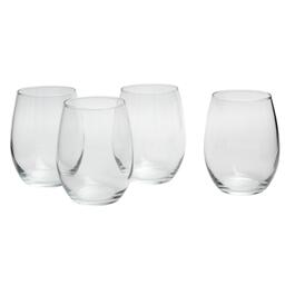 "4.25"" Perfect Stemless Wine Glass Drinkware Set, 12-Piece"