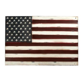 Vintage Metal American Flag Indoor/Outdoor Wall Decor