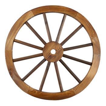 24 Wood Wagon Wheel Decor