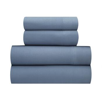 Blue Solid Warm Soft Spun Sheet Set