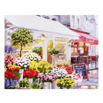 "22""x28"" Flower Storefront Canvas Wall Art"