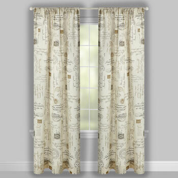 Paris Postal Pattern Window Curtains, Set of 2 view 2