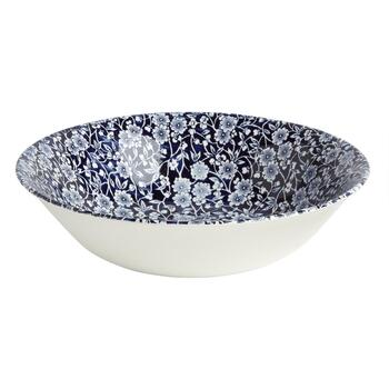 Blue Calico Ceramic Salad Bowl