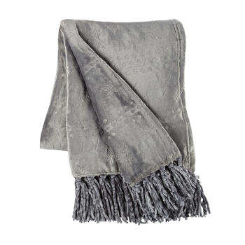Deer Embossed Throw Blanket with Fringe view 1