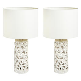 "21"" Starfish Ceramic Table Lamps, Set of 2 view 1"