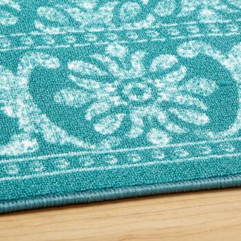 Teal Medallion Area Rug view 2