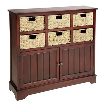 Cherry 6 Basket Storage Cabinet