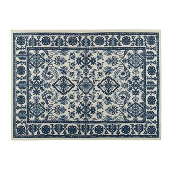 4'x6' Blue/Beige Traditional Print Area Rug
