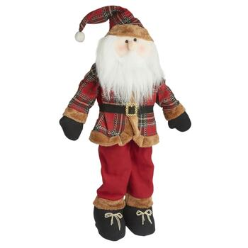 "28"" Standing Plaid Santa Décor"