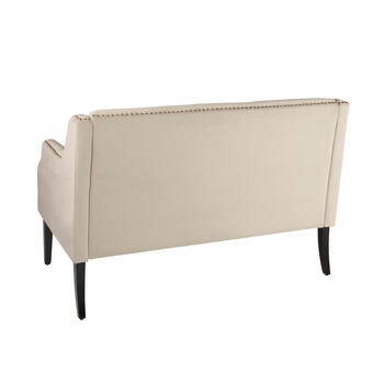 Solid Tufted 2-Seat Settee with Nailheads view 2