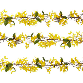 6' Forsythia Artificial Flower Garlands, Set of 2 view 1