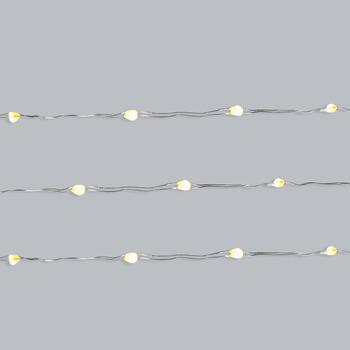 "36"" Clear LED Silver Wire String Lights, Set of 5"