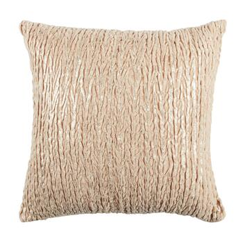 Embellished Gold Metallic Marble Square Throw Pillow
