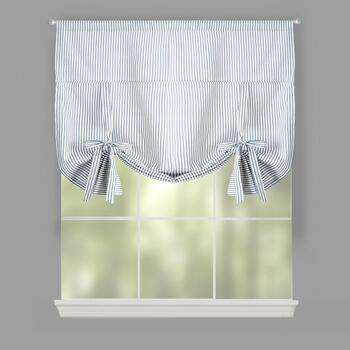 Traditions by Waverly® Pinstripes Tie-Up Window Shade