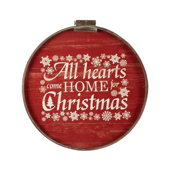 "24""x36"" ""Come Home For Christmas"" Round Wall Decor view 1"