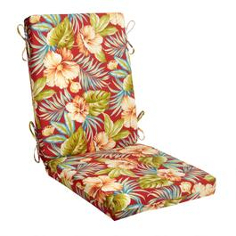 Red Tropical Indoor/Outdoor Hinged Chair Pad