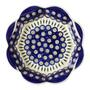 Polish Pottery Peacock Feathers Fluted Fruit Bowl view 2