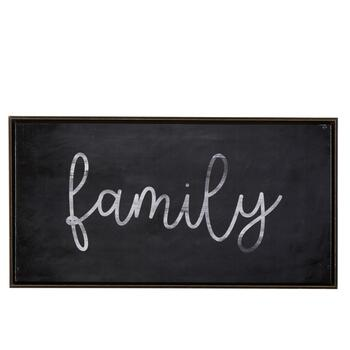 "25""x13"" ""Family"" Framed Wall Decor"