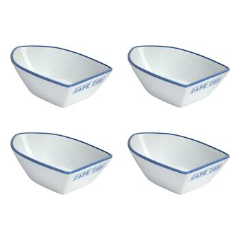 Coastal Living Seascapes™ Cape Boat-Shaped Bowls, Set of 4