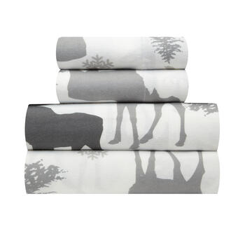 Moose Warm Cotton Flannel Sheet Set view 1