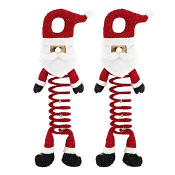 Santa Bouncy Door Hangers, Set of 2