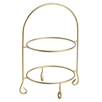 Gold 2-Tier Plate Stand