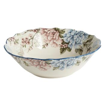 Aubais Scalloped Ceramic Serving Bowl