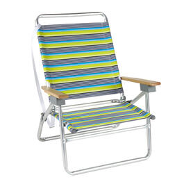 Lime/Blue Stripes 3-Position Folding Sand Chair view 1