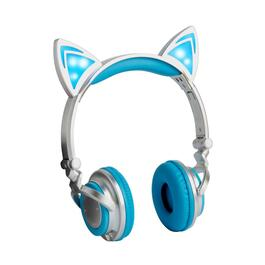 Bluetooth® Lighted Cat Ears Folding Rechargeable Headphones