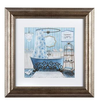 "12"" ""Good Morning Gorgeous"" Blue Shower Curtain Framed Wall Decor"