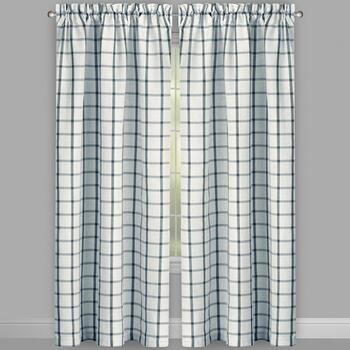 Willow Branch™ Farmhouse Box Plaid Window Curtains, Set of 2 view 2