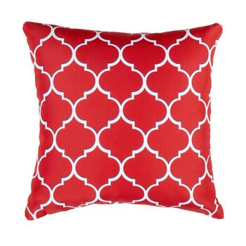 Red Trellis Indoor Outdoor Square Pillow Christmas Tree Shops And