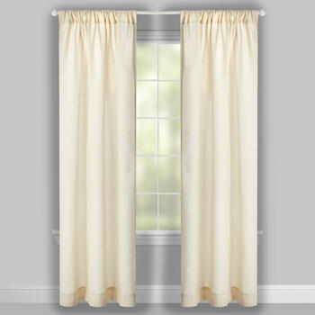 Solid Speckled Linen-Like Window Curtains, Set of 2 view 2