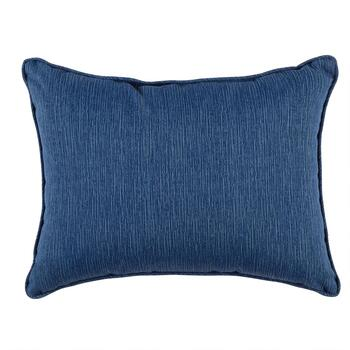 Coastal Living Seascapes™ Solid Blue Indoor/Outdoor Oblong Throw Pillow