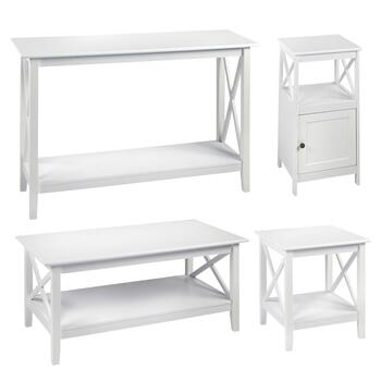 Milan White X-Sided Furniture Collection