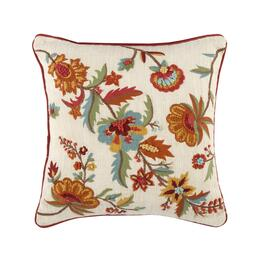 Orange Flowers Square Throw Pillow