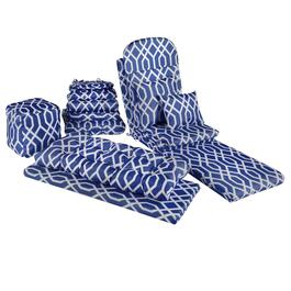 Blue Geometric Indoor/Outdoor Chair Pads Collection