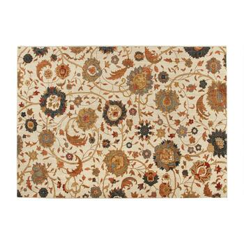5'x7' Beige/Red Floral Area Rug