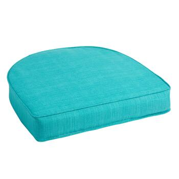 Solid Turquoise Indoor/Outdoor Gusset Seat Pad
