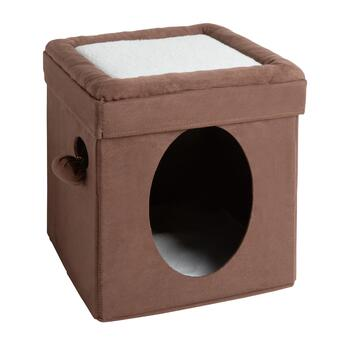 Brown Cat Cube